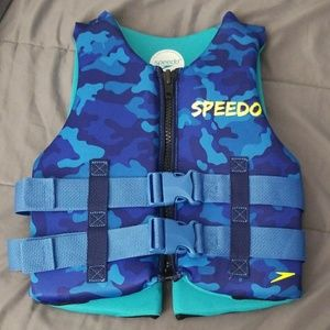 Blue camo speedo life jacket